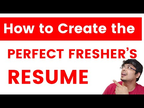 Freshers Resume Format | How To Create An Awesome Freshers' Resume | Explained With Sample Resume