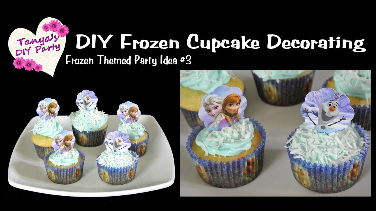 DIY Frozen Party Idea #3 - Cupcake Decorating - YouTube