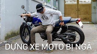 Cách dựng xe mô tô bị ngã | Xe.Tinhte.vn