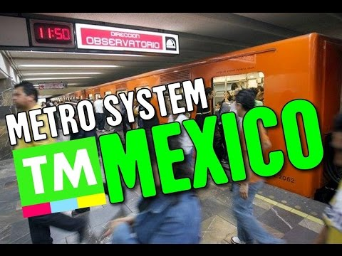 Walk through the Mexico City metro system