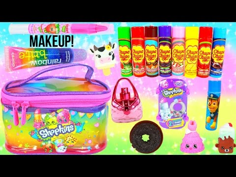 Shopkins Makeup Beauty Bag PACKED with Surprises!