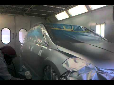 spraying ppg clear coat