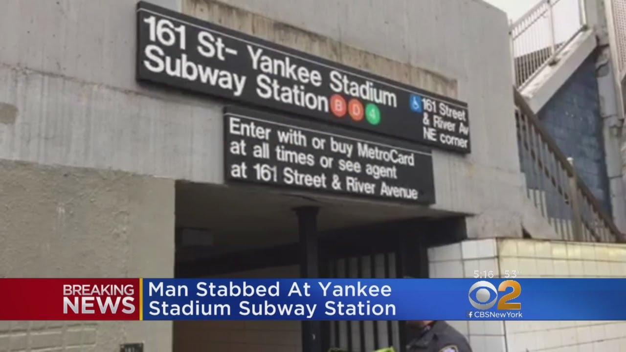 man stabbed at yankee stadium subway station