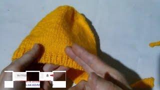 МК Шапочка или  Чепчик для малыша Вязание спицами