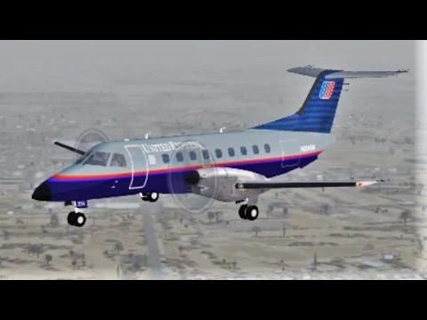 FSX (ATC) United Express E120 Landing in Palm Springs (BVATC)