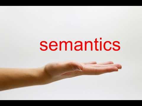 How to Pronounce semantics - American English