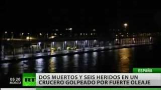 Tres olas gigantes frustraron un crucero en el Mediterráneo