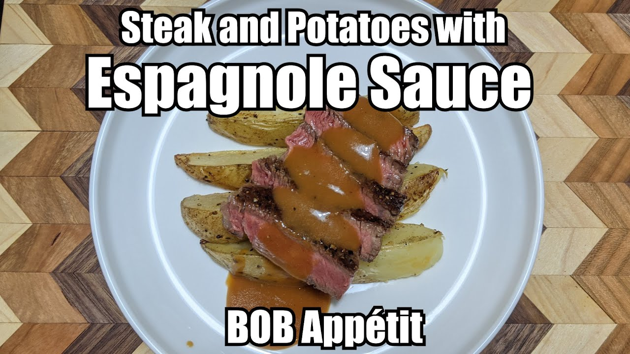 Learning About Espagnole Potatoes With Espagnole Sauce Youtube