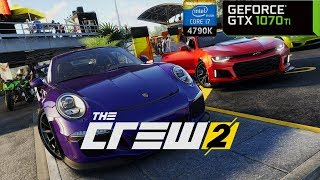 The Crew 2 - GTX 1070 Ti + i7 4790K | PC Max Settings 1440p