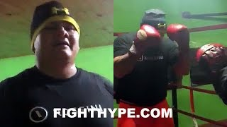 """(WHOA!) MAIDANA BACK IN THE GYM LOOKING """"SWOLLEN"""" AS HE HITS THE MITTS; IS COMEBACK IN WORKS?"""