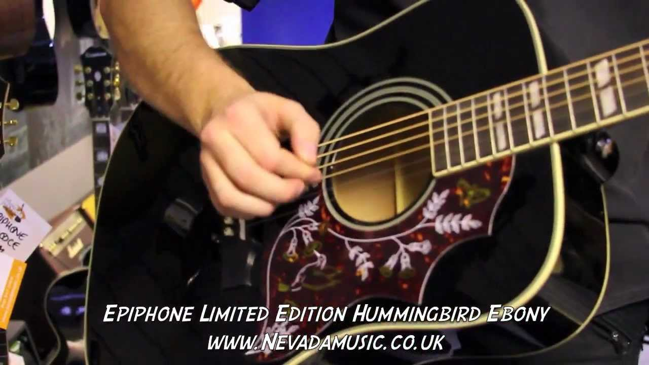 Epiphone Hummingbird Acoustic Limited Edition Black