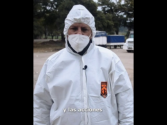 Tareas de sanitización en la plaza de transferencia de Metán