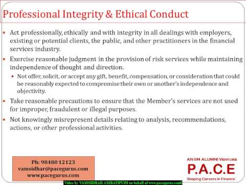 Frm Part1 Garp Code Of Conduct In Foundations Of Risk Management