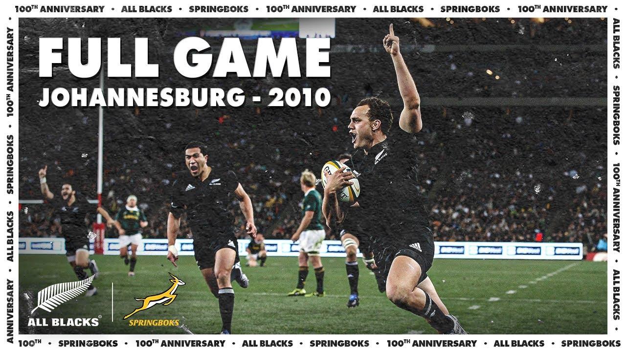 FULL GAME: All Blacks v South Africa (2010 - Johannesburg)