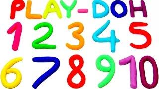 Учим цифры от 1 до 10 на английском языке с пластилином Play-Doh.