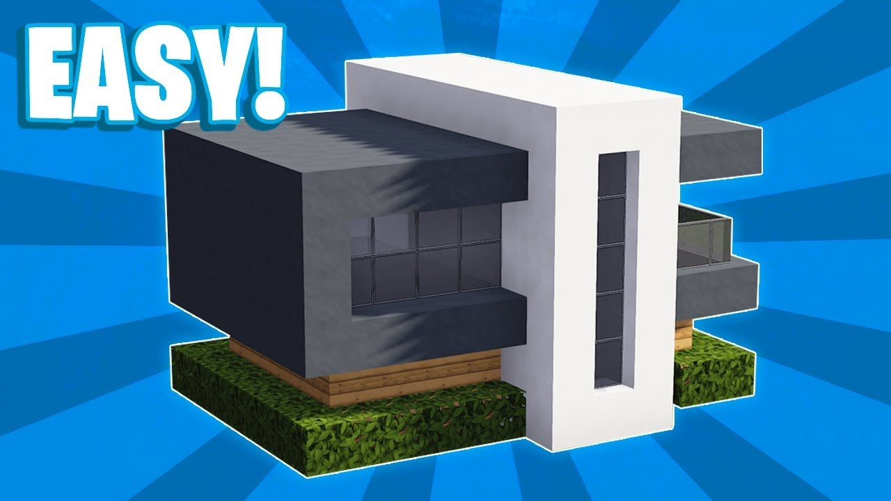 Minecraft How To Build A Small Modern House Tutorial 13 Youtube