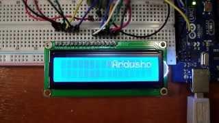 Arduino+LCD экран. Демонстрация примера ''Scroll'' стандартной библиотеки