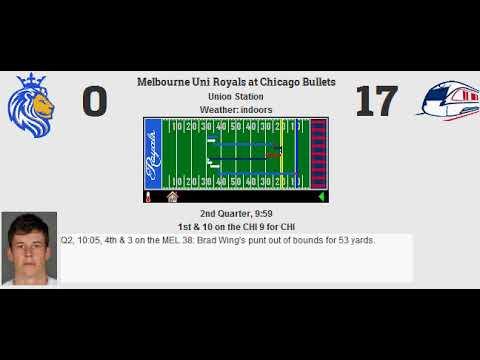 Week 15: Melbourne Uni Royals (8-6) @ Chicago Bullets (10-4)