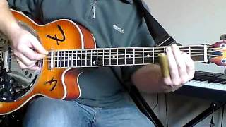 Eric Clapton - Walking Blues (Robert Johnson) played on a Fender Resonator
