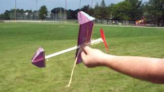 How To Wind Up A Squirrel Rubber Band Airplane