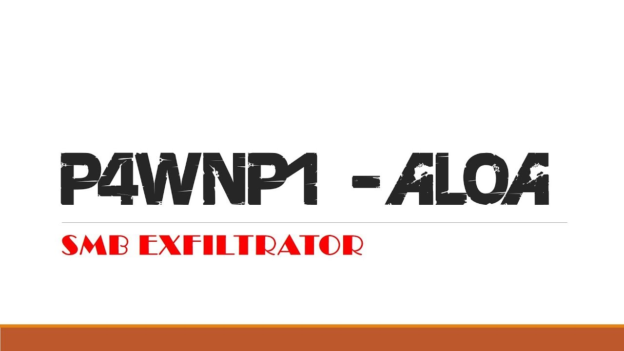 P4wnP1-ALOA-HID-payloads SMB Exfiltrator - YouTube