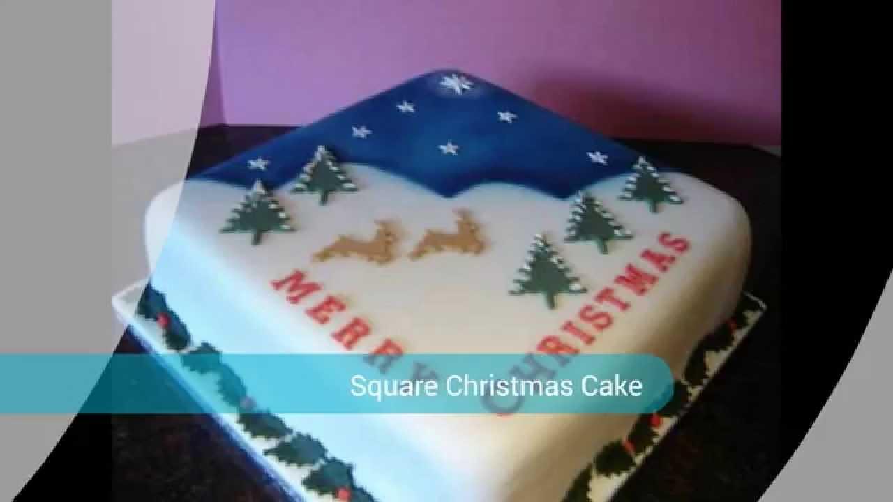 Easy Square Christmas Cake Decorating Ideas