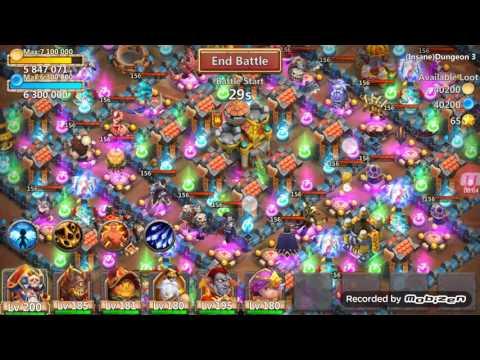 Castle Clash Insane Dungeon 3-9 (FTP)