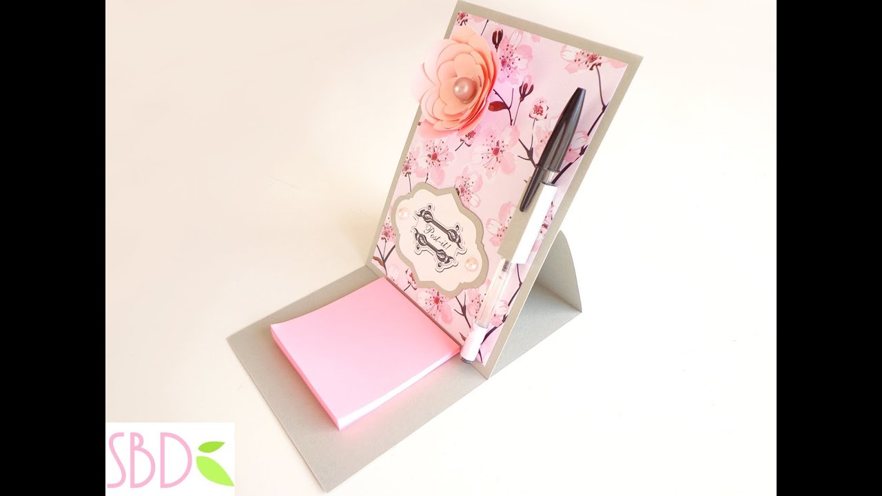 Assez Scrapbooking: Porta Post-it - Post-it Holder - YouTube SU57