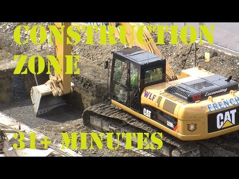 Trucks for kids - Construction Zone 10 - Diggers and construction workers