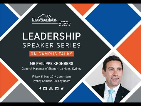 Leadership Speaker Series: Mr Philippe Kronberg