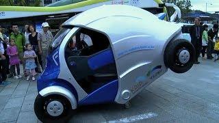 韓國人受犰狳啟發, 發明可折疊電動車, 壹個車位能停下三輛 thumbnail