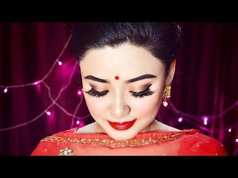 Indian Wedding Guest Royal Makeup and Hair Tutorial 2018