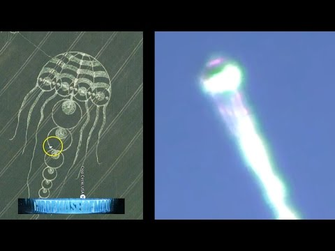 WEIRD JELLYFISH GOOGLE EARTH UFO MATCH EXACTLY!! BIOLOGICAL UFO RESEMBLES CROP CIRCLE!! 8/9/2016