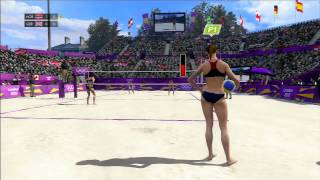London 2012 Beach Volleyball PS3 Gameplay