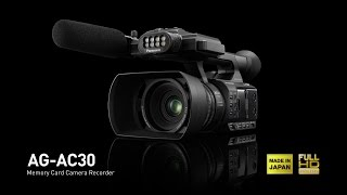 panasonic ag ac30 palm camcorder for business use with outstanding low light characteristics