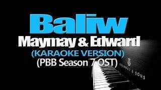 baliw maymay edward karaoke version pbb season 7 ost