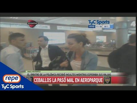 Una señora increpó a Diego Ceballos en el aeropuerto