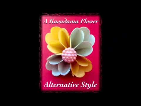 origami kusudama flower alternative style youtube