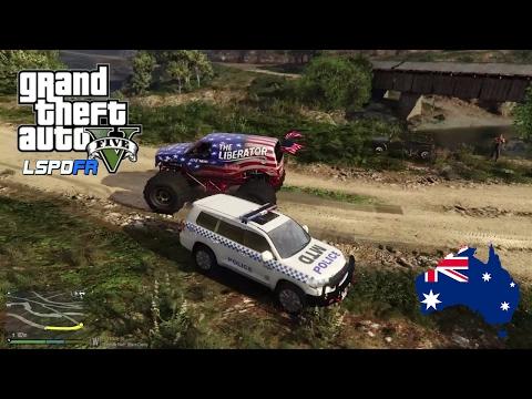 GTA 5 NSW Police Mod - Shovel To The Face - Toyota Landcruiser Patrol (Play GTA 5 as a cop mod)