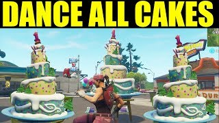 All Birthday Cake Locations - Dance In Front Of Different Birthday Cakes Fortnite Guide