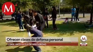 Ofrecen clases de defensa personal en Cdmx