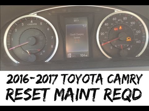 How To Reset Maintenance Required Light 2016 2017 Toyota Camry 16 17 Maint Reqd