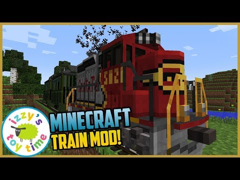 Minecraft TRAIN MOD! Izzy's Toy Time Fun Toy Trains