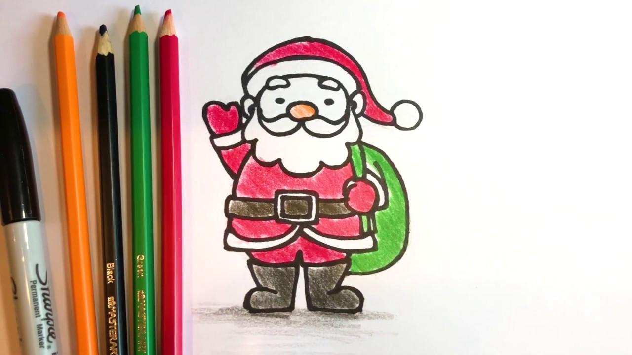 สอนวาดรูปการ์ตูน ซานตาคลอส Santa Claus (สำหรับเด็ก)