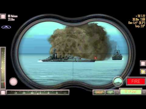 Atlantic Fleet Android Gameplay - Battleships and Aircraft Carrier (1080p)
