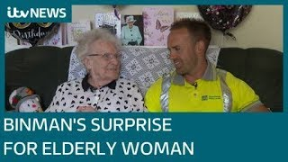 Binman brings a cake to a resident on her 100th birthday | ITV News