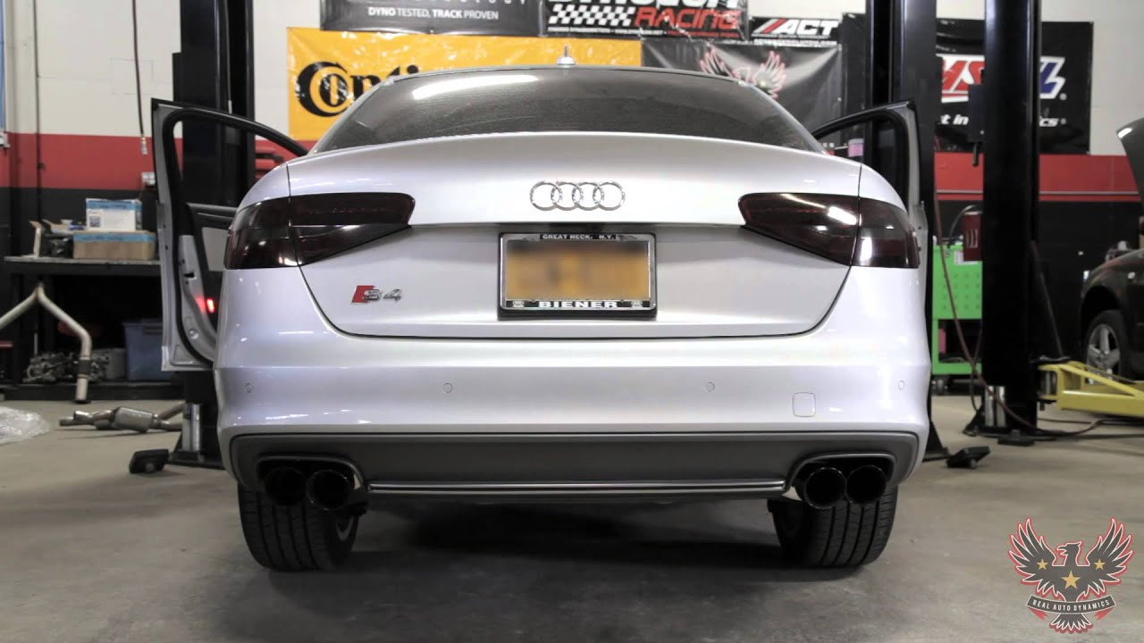 2013 audi s4 awe tuning downpipe non resonated and catback exhaust real auto dynamics. Black Bedroom Furniture Sets. Home Design Ideas