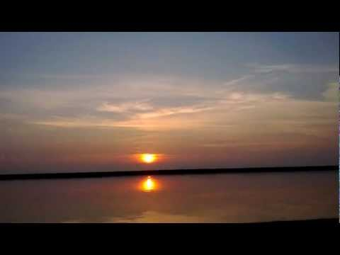 Time lapse of sunset, LAKE ERIE.