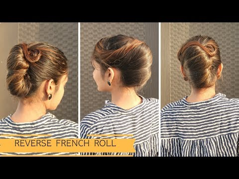 Reverse French Roll Hairstyle For Long Hair