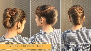 Reverse French Roll Hairstyle For Long Hair / Komal's Hairstyle